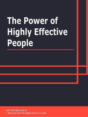 cover image of The Power of Highly Effective People
